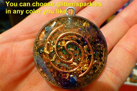 fractals orgone pendant cosmic energy orgonites