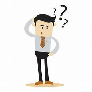 Confused businessman cartoon character Vector | Premium ...