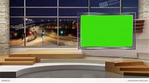 News TV Studio Set 47 Virtual Green Screen Background Loop ...