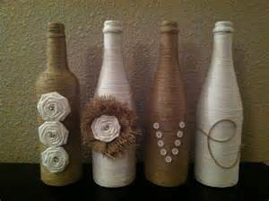 decorative twine wine bottles
