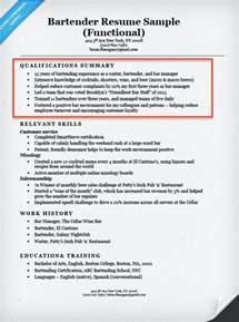 bartender resume template australia maps create a resume profile steps tips exles resume companion