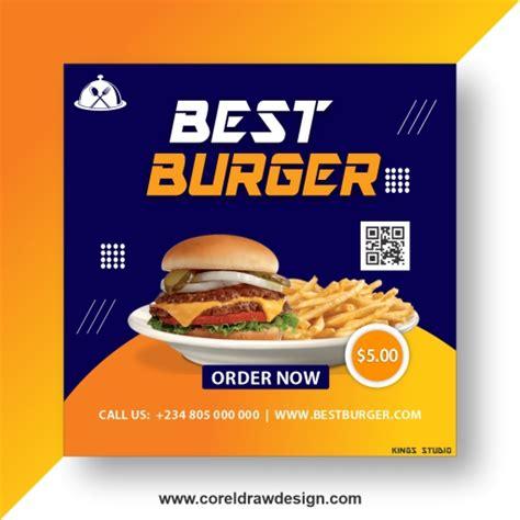 burger flyer coreldraw design