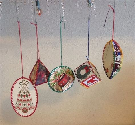 christmas card ornaments     christmas tree