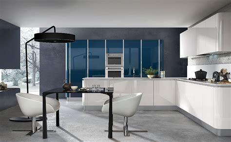 cuisine blanche et bleue cuisine blanche design le des cuisines