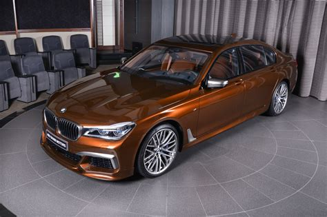 chestnut bronze bmw m760li xdrive looks rather