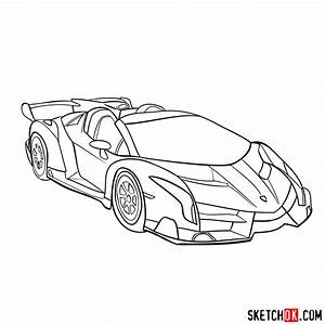 How To Draw Lamborghini Veneno Step By Step Drawing