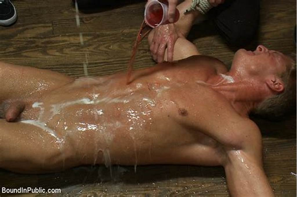 #Blond #Muscle #Stud #Blindfolded #Flogged, #Humiliated #And