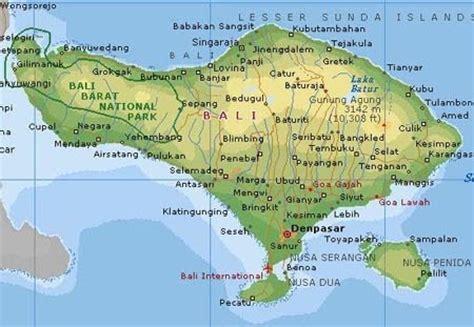 gambar peta pulau bali gambar peta indonesia dunia