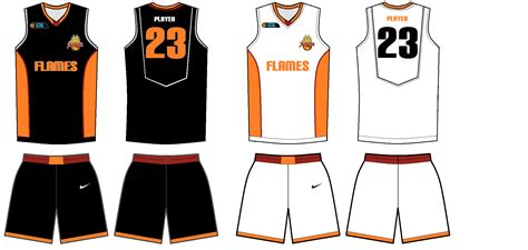 Blank Basketball Uniform Template