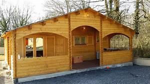 Vente Chalet Bois Habitable : chalet habitable de 67 m une terrasse couverte d en bois en kit ~ Melissatoandfro.com Idées de Décoration