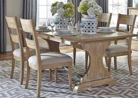liberty furniture harbor view trestle table and 4 slat
