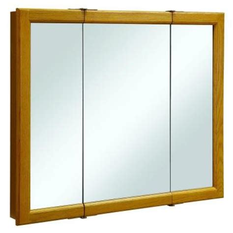 Home Depot Medicine Cabinet No Mirror by Design House Claremont 36 In W Tri View Mirrored Medicine