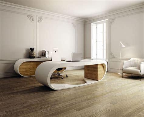 Home Interior  Wooden Floor Unique Office Desk Modern