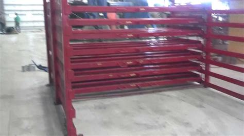sheet steel rack holds    steel   roller drawers  sale youtube