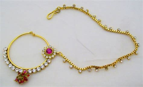 lady nath indian bridal nose ring jewellery