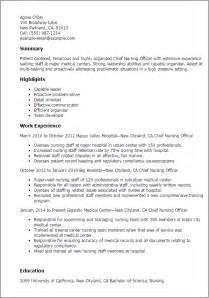 chief nursing officer cover letter