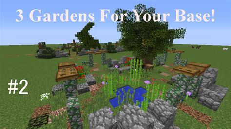3 Garden Designs   Minecraft Idea Generators #2 Youtube