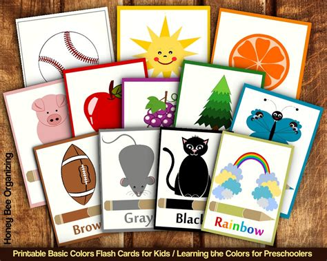 printable basic colors flash cards for toddlers preschoolers 732 | il fullxfull.763451494 78ja