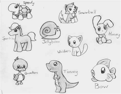 ideas  cute animal drawings  pinterest