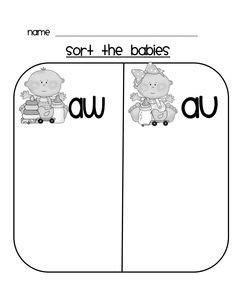 aw au images phonics  grade phonics word