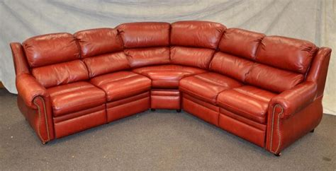 Thomasville Leather Sofa With Chaise by Thomasville Leather 3 Section Corner Sofa With Reclining