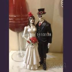 cheap wedding cake toppers aliexpress buy cheap horrible wedding cake topper skull and bridegroom