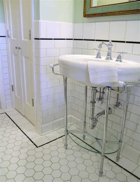 hexagon floor tile bathroom larger hex tiles with subway