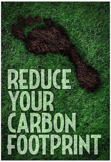 reduce  carbon footprint motivational poster posters
