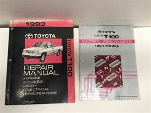 1993 Toyota T100 Oem Repair Manual And Electrical Wiring