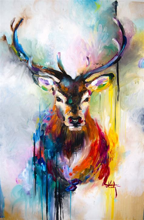 Katy Jade Dobson Art  Stag Oil Painting  Katy Jade