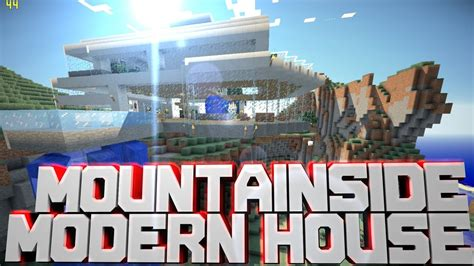 minecraft pe mountainside modern house  youtube
