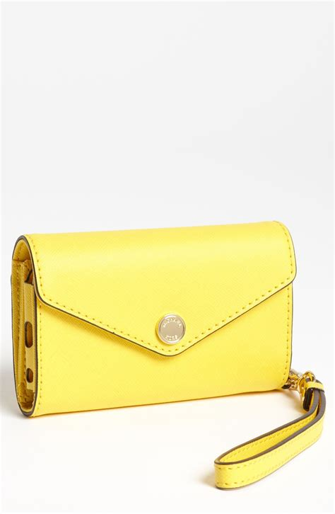 iphone 5 wristlet michael michael kors iphone 5 wristlet in yellow citrus