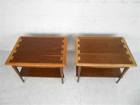 modern style table ls pair of mid century modern acclaim style end tables by