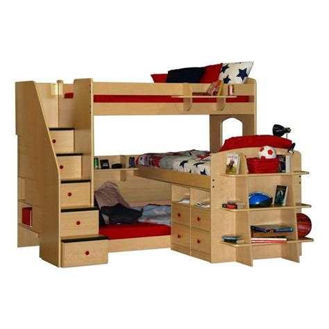 triple bunk beds bunk bed  desk triple bunk beds