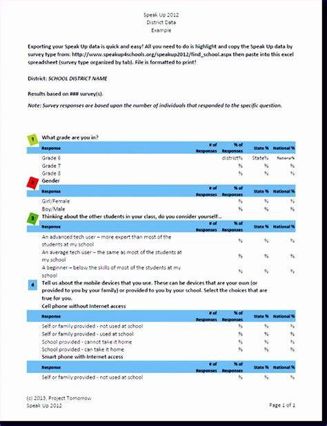 survey excel template exceltemplates exceltemplates