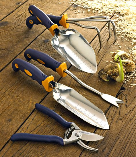 free landscaping tool 5 pc garden tool set w free garden bag garden tools by cutco
