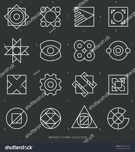 Abstract Shapes Collection by Abstract Shapes Collection Outlines Logo Template Stock