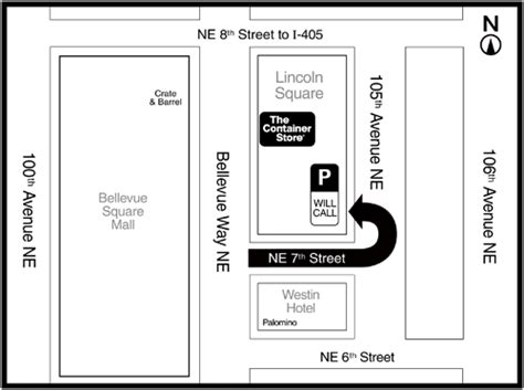 lincoln square parking garage bellevue washington store locations in washington bellevue the container store