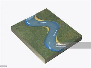 Illustration Of River Deposition Course Of River Changing