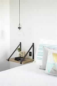 Table De Nuit Murale : 1001 id es pour une lampe de chevet suspendue dans la chambre coucher ~ Teatrodelosmanantiales.com Idées de Décoration