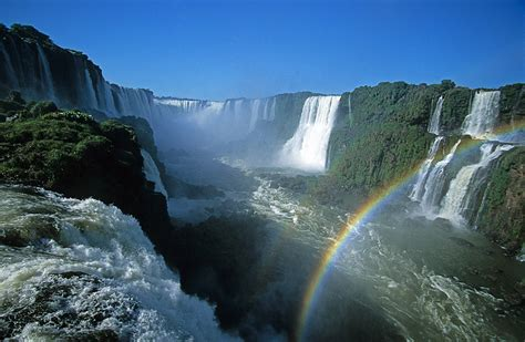 Argentina And Brazil Iguazú Falls Walking On The