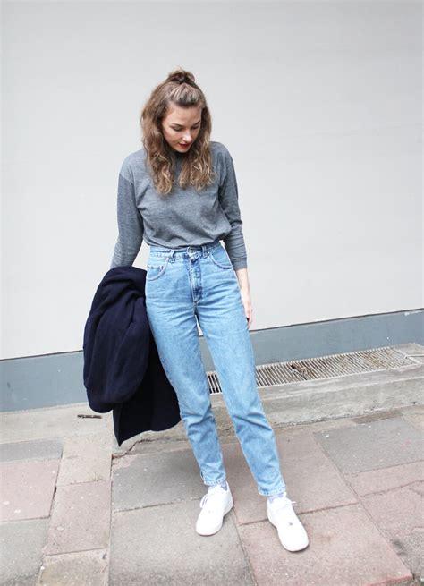 outfit die high waist jeans von joop   stil