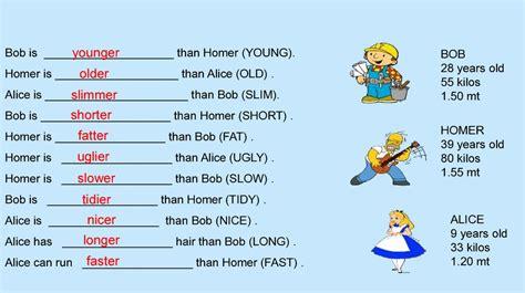 comparative adjectives prezentatsiya onlayn