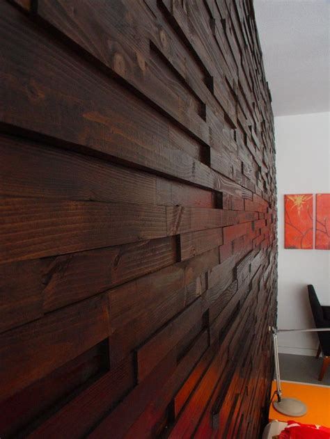 wood feature wall scrap wood wall