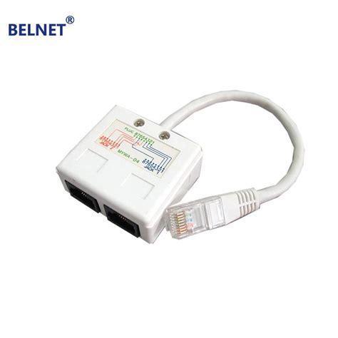 splitter cable ethernet internet network rj45 connector pc cables belnet computer extension simultaneously connectors plug laptop lan wholesale cat5 box