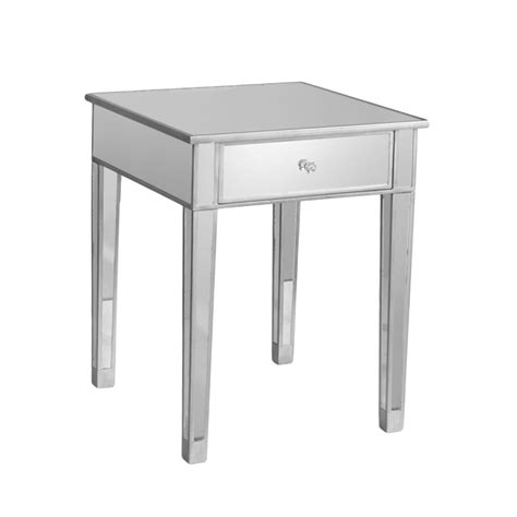 mirror tables sei mirage mirrored accent table end tables