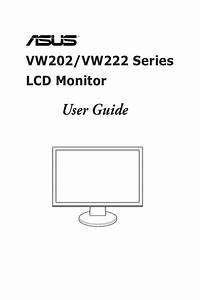 Asus Vw222s Monitor User Guide Manual Operating