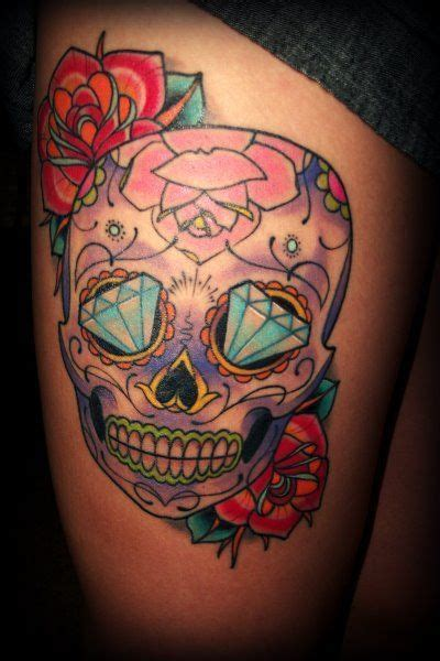 skull tattoo      tattoo pinterest sugar skulls