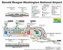 Ronald Reagan Washington National Airport map
