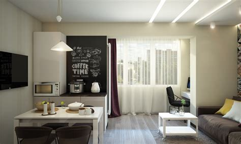 Bright And Compact 1 Bedroom Apartment For Family Floor Plan Included by Creative Apartment Designs For Families